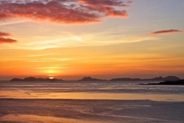 Puesta del sol desde el monte de La Guia